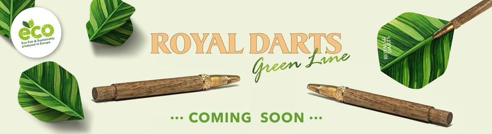 Royal Darts Green Line Banner